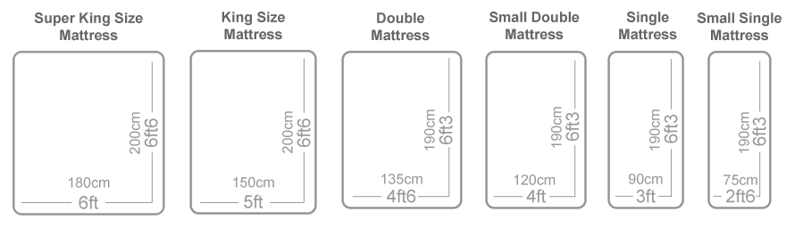 Uk standard mattress sizes the oak bed store Size of standard twin mattress