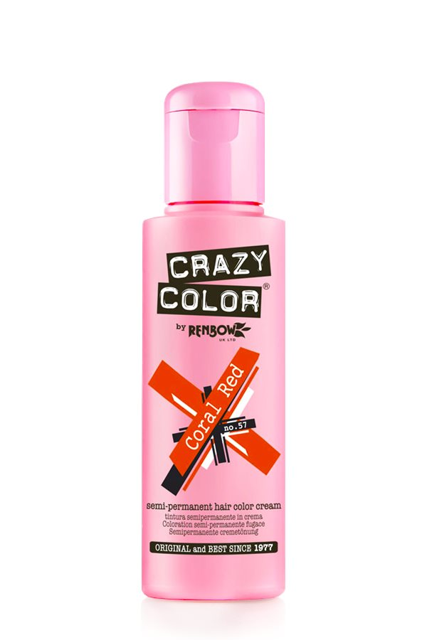 Crazy Colour - Direct Shades 100ml Coral Red