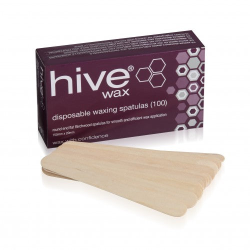 Hive Disposable Wooden Spatulas (100)