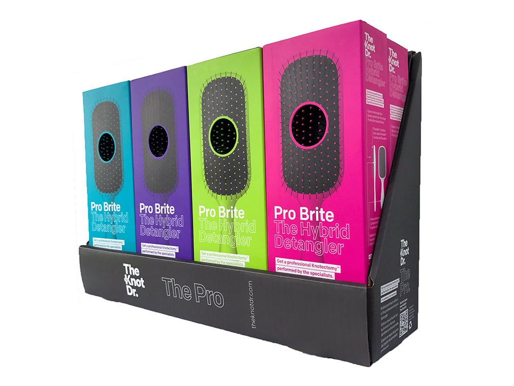 The Knot Dr Pro Brite Brush Display Box
