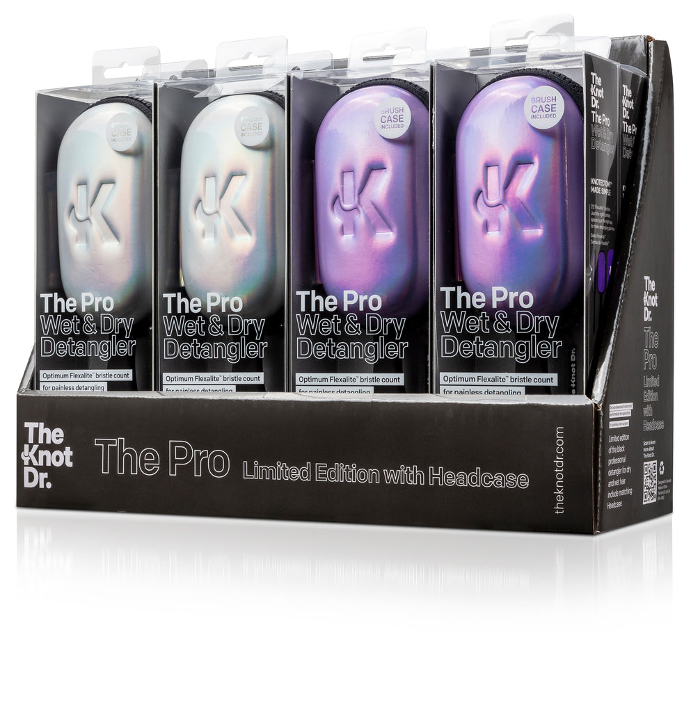 The Knot Dr Pro Brush Holographic Display Box