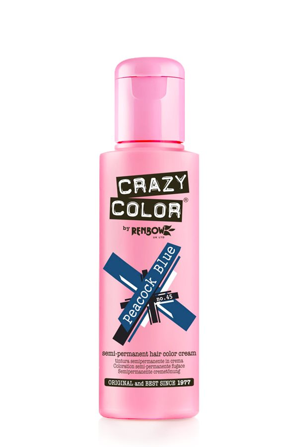 Crazy Colour - Direct Shades 100ml Peacock BLue