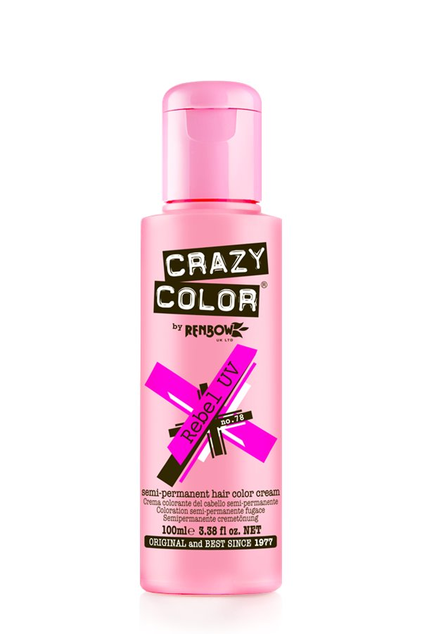 Crazy Colour - Direct Shades 100ml Rebel UV