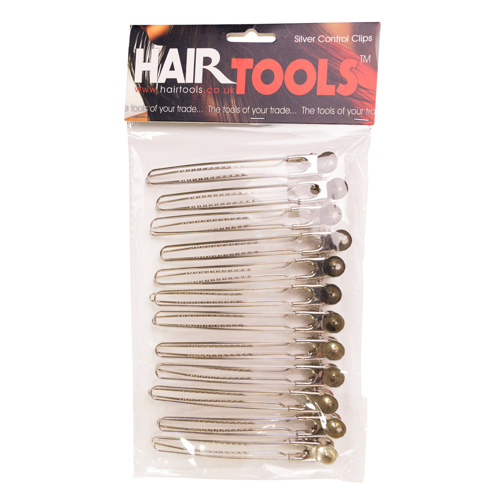 Hair Tools Control Clips Silver (12 pack)