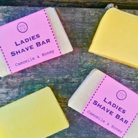 Ladies shave soap bar - women's traditional shaving soap - chamomile and honey solid shaving - traditional shaving soap for women