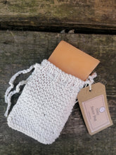 Load image into Gallery viewer, Soap Saver Sack -  Hand knitted Cotton Soap Bag