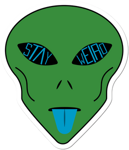 Stay Weird Alien Weather-Proof Sticker