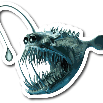 Angler Fish Weatherproof Sticker