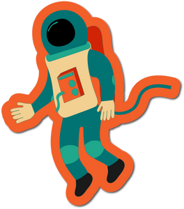 Astronaut Weather-proof Sticker