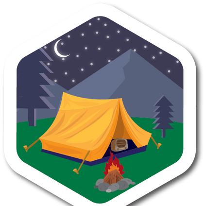 Camping Weather-Proof Sticker