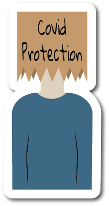 Covid Protection Weather-Proof Sticker
