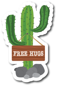 Free Hugs Weatherproof Sticker
