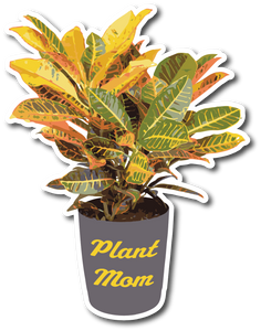 Plant Mom Weatherproof Sticker