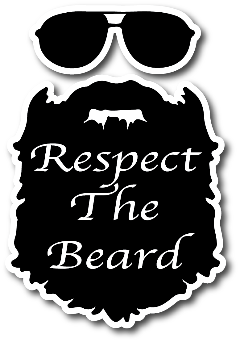 Respect The Beard Weatherproof Sticker