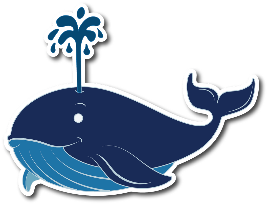 Whale Weatherproof Sticker