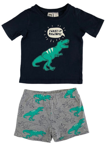 Kids & Co Dino PJ's - Size 2