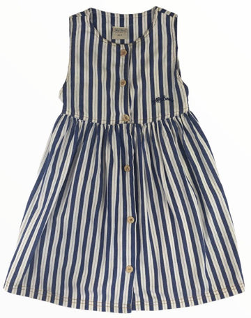 Jelly Beans Striped Button-Up Dress - Size 5