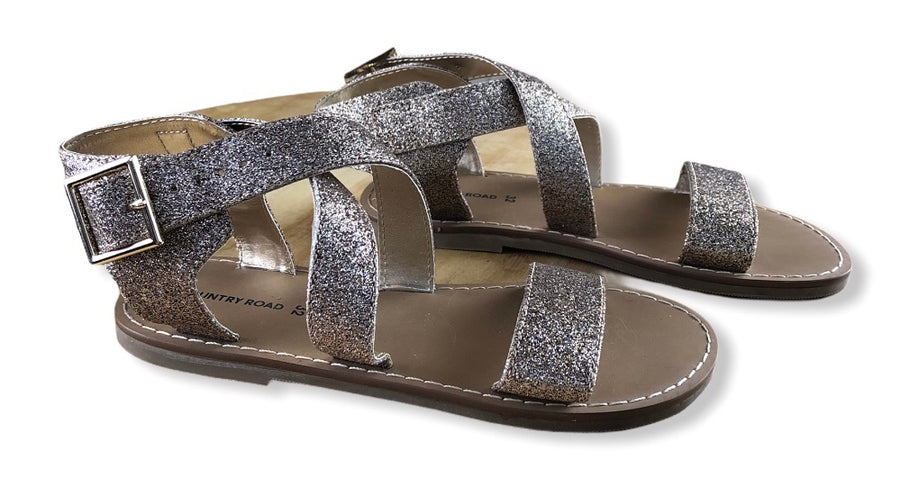 Country Road Glitter Strap Sandals - Size 32