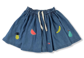 Country Road Embroidered Fruit Skirt - Size 7