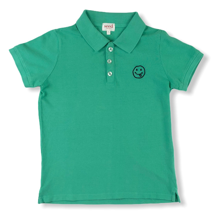 Seed Smiley Face Polo - Size 7