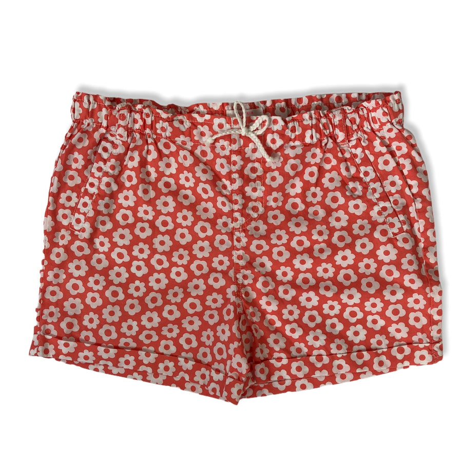 Pumpkin Patch Shorts with flowers