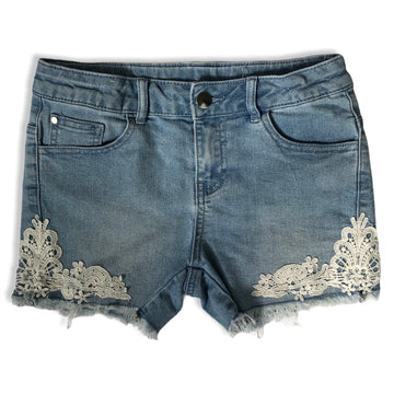 anko Denim shorts with lace