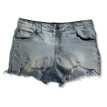 Tilii Denim shorts with lace