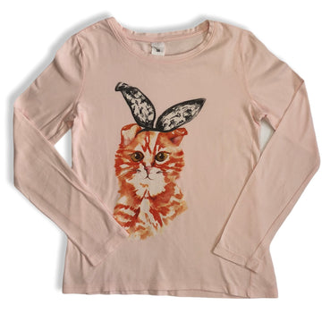 Target cat with bunny ears tee - Size 10