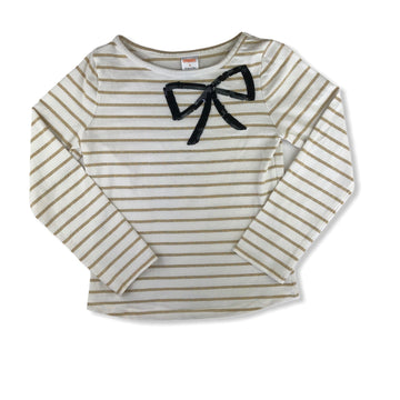 Gymboree Sequin bow top - Size 8