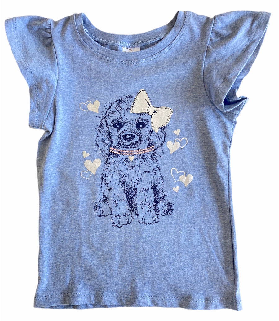 Target Blue Capped Puppy Tee - Size 4