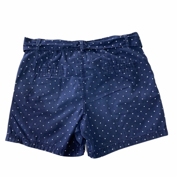 H&M - Navy with white polka dot shorts - Size 9