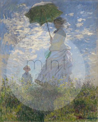Lady with a Parasol MINT Decoupage Paper