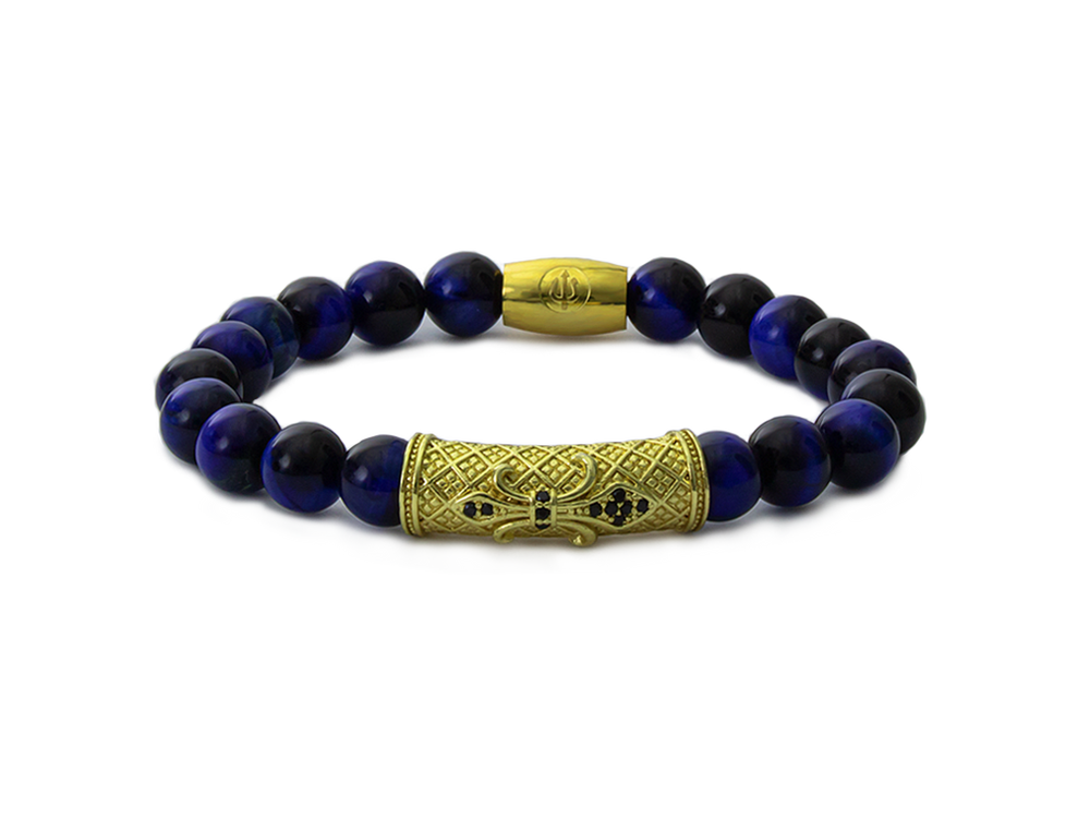 Gold Kratos - Blue Tiger Eye