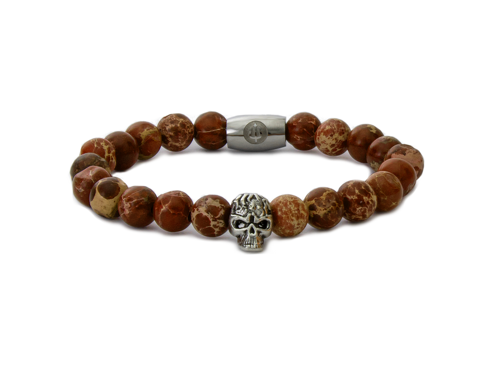 Dawn Skull - Red Imperial Jasper