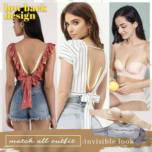 Invisible Front Push Up Bra