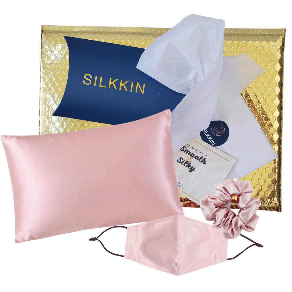 The Gift Set: Silk Mask + Pillowcase + Scrunchie