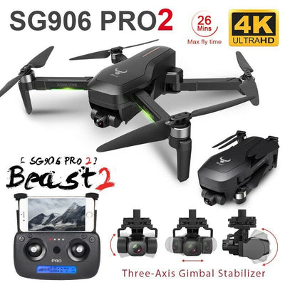 SG906 PRO 2 Three-axis Gimbal Brushless Drone - Emporium Digital Store