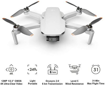 Drone Mini 2 Quadcopter 4K Video. - Emporium Digital Store