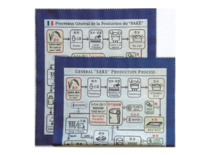 5 Microfiber Cloth (Japanese Cultural Information SAKE & Chopsticks)