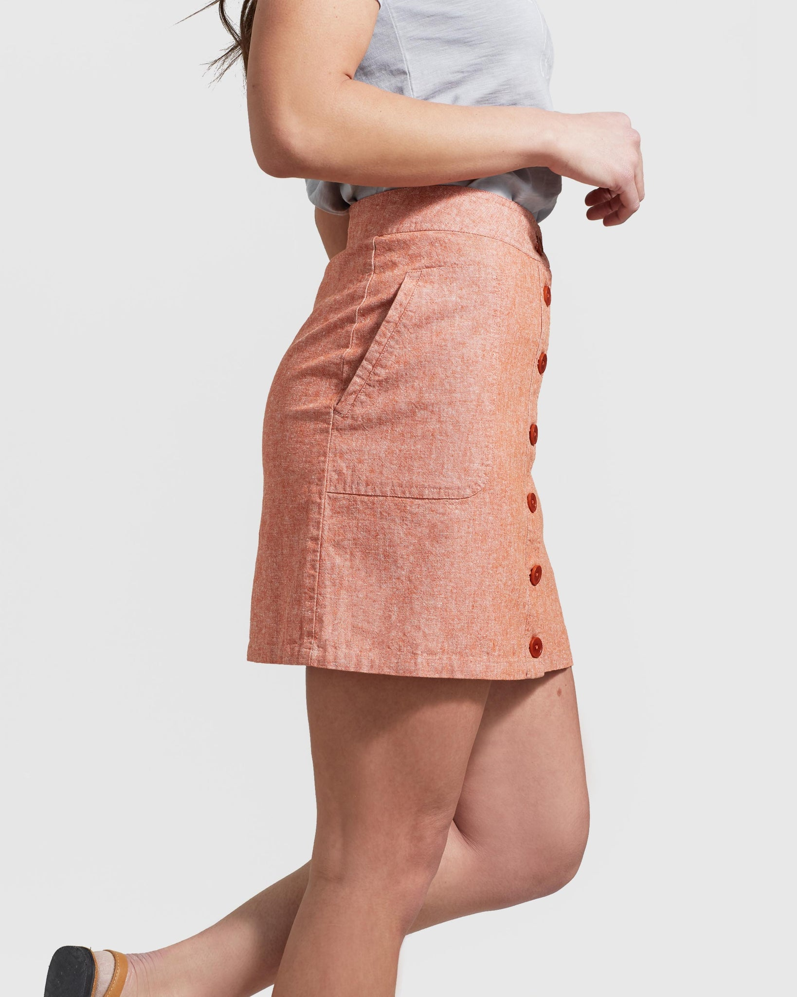 SoftHemp™ Button-Up Skirt