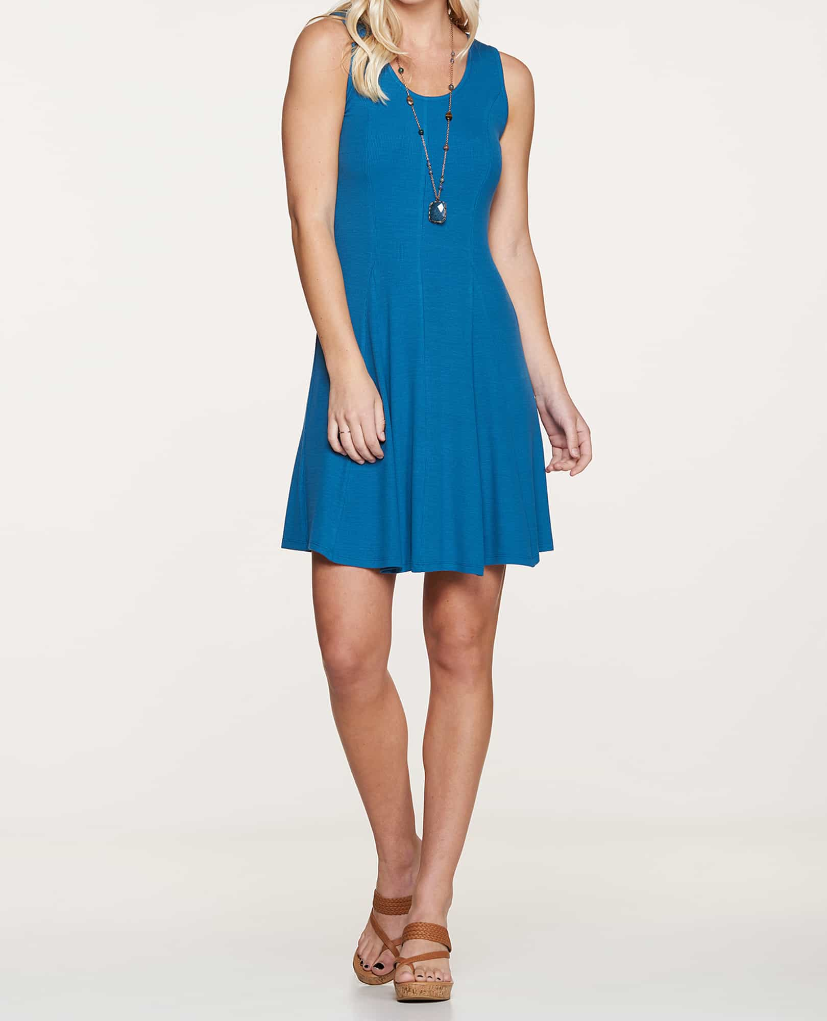 Daisy Rib Sleeveless Dress