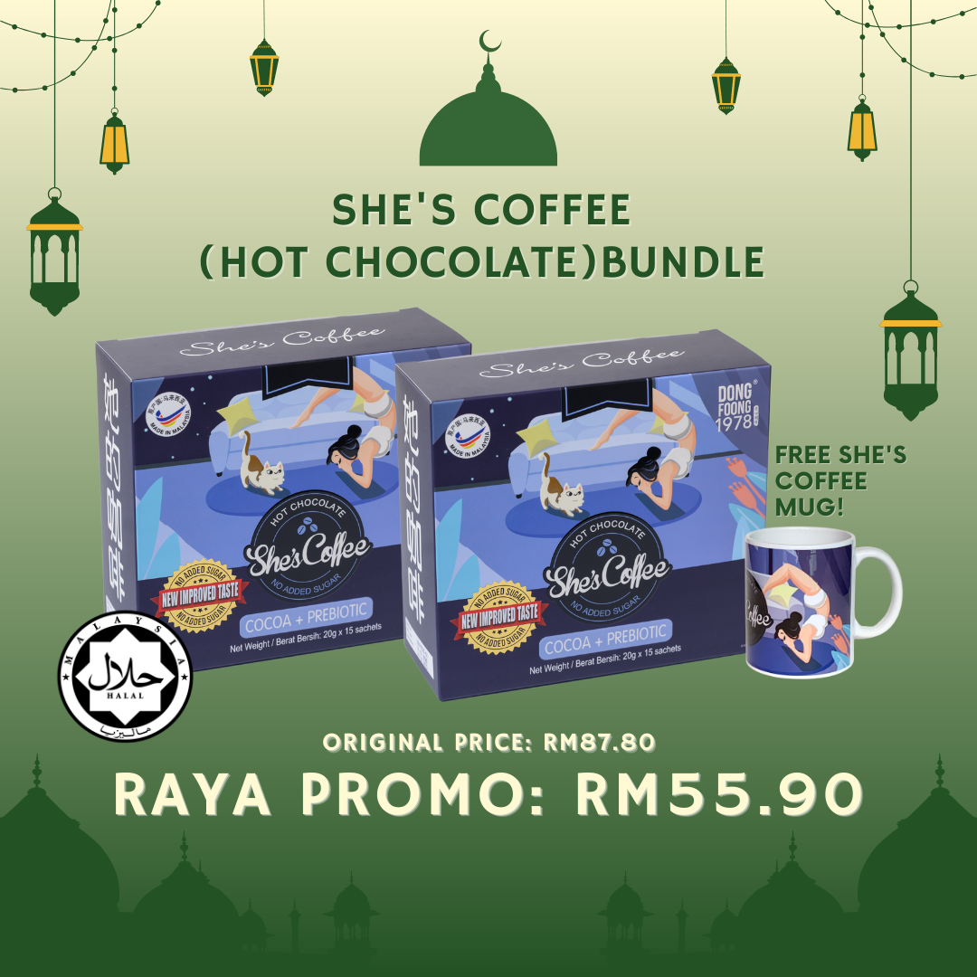 [RAYA] She's Coffee Hot Chocolate BUNDLE - Raya Gift, Prebiotic, No Sugar, Halal