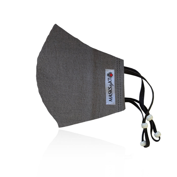 Kona Gray Cotton Face Masks