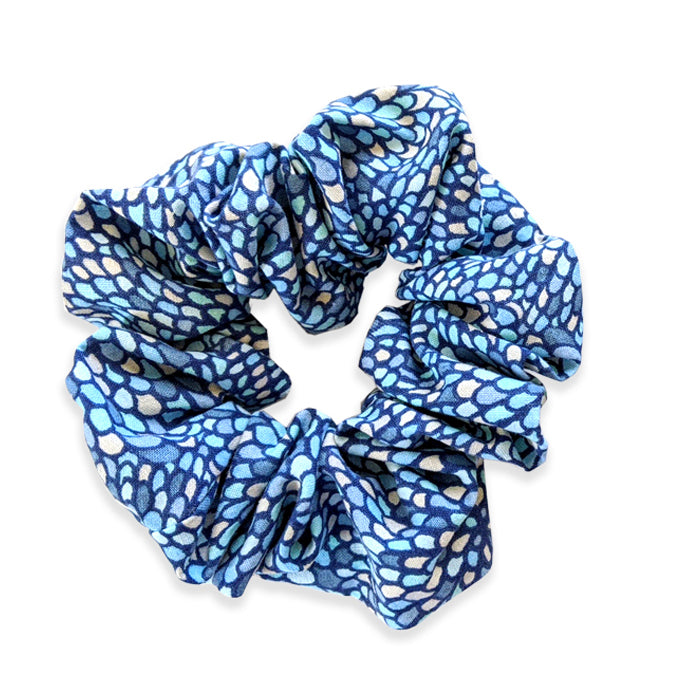 Poncy Shamrock Blue Large Hair Scrunchie