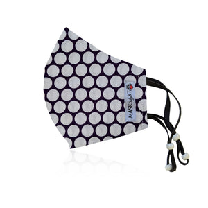 Spot Dots on Purple Cotton Face Masks