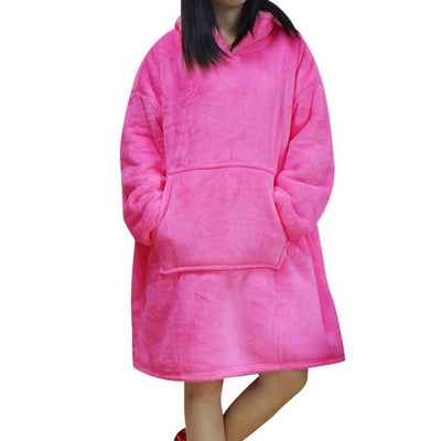 LUXURIOUS OVERSIZED FLEECE BLANKET HOODIE - Trendvance