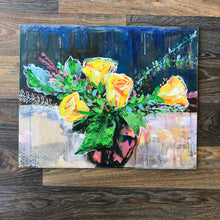 Load image into Gallery viewer, Acrylic painting, flower, bouquet, impressionism, original,artwork