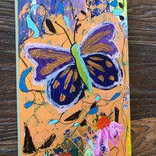 Load image into Gallery viewer, Butterfly, acrylic, painting, panel board