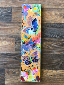 Butterfly, acrylic, painting, panel board
