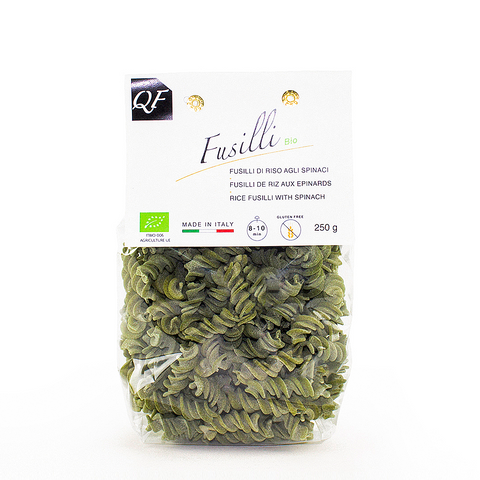 Rice Fusilli with Spinach - Gluten Free